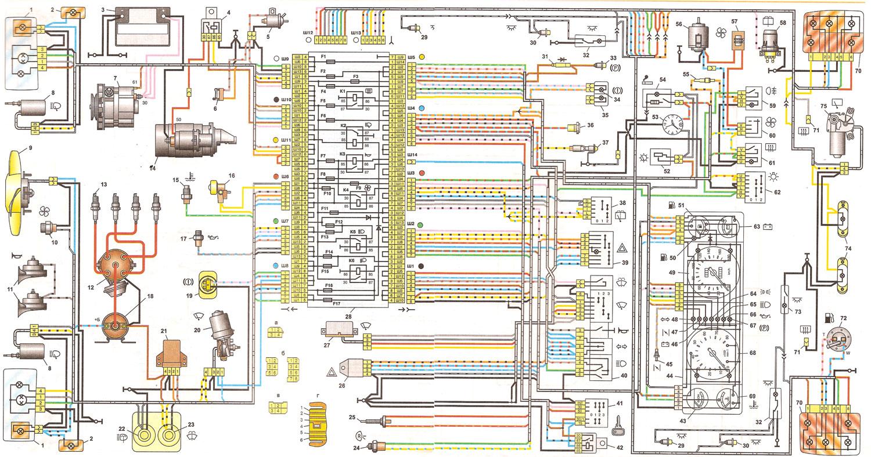Схема электроцепи для ваз 2107