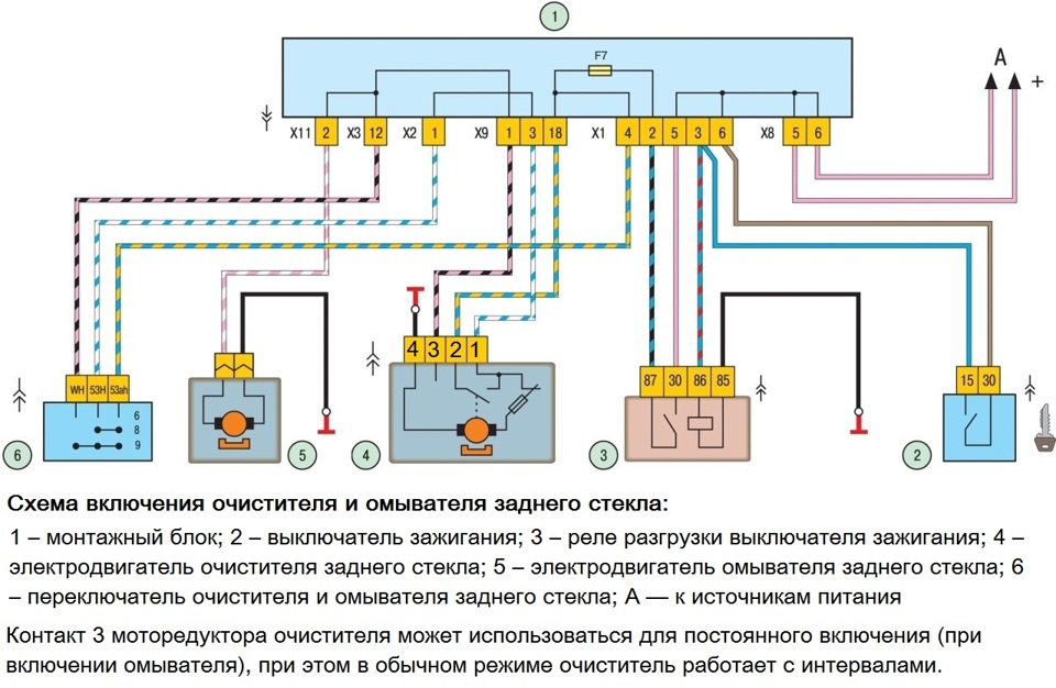 Схема проводки габарит ваз 2114