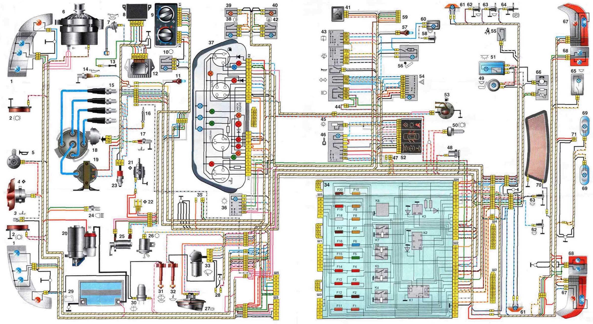 Схема вентилятора охлаждения ваз 2110 инжектор фото 252