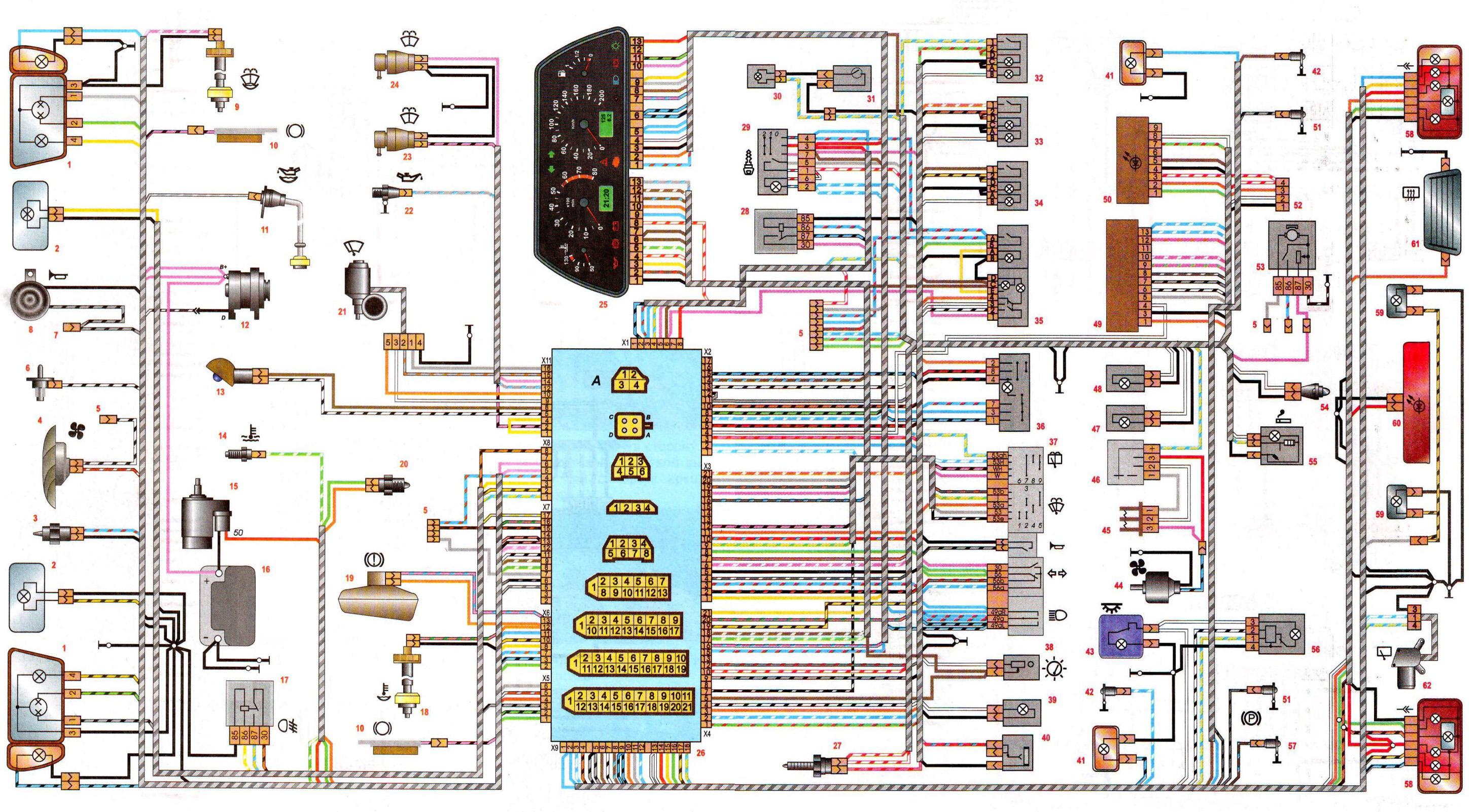 Схема электрооборудования ваз 2114 инжектора