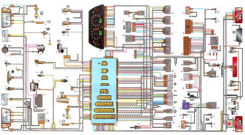 Схема электрооборудования ваз 2113, 2114 инжектор
