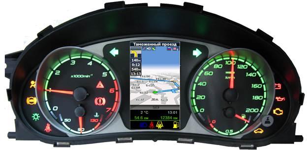 Распиновка панели приборов (щитка) ВАЗ-2170, 71, 72 Приора с навигацией