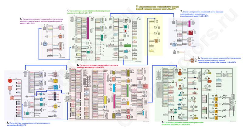 Схема электрооборудования ваз 2170 приора