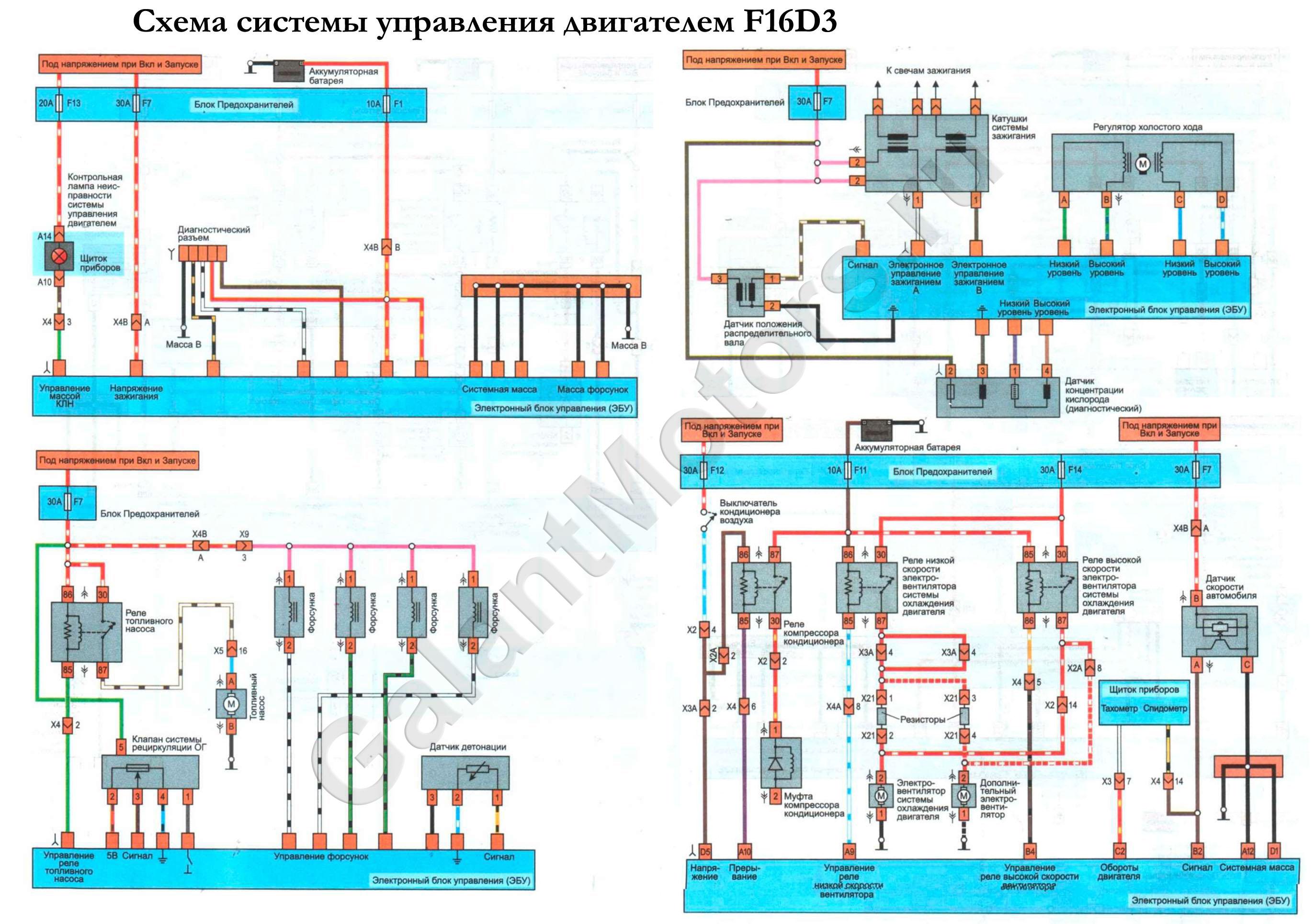 Дэу нексия схема блока управления двигателем