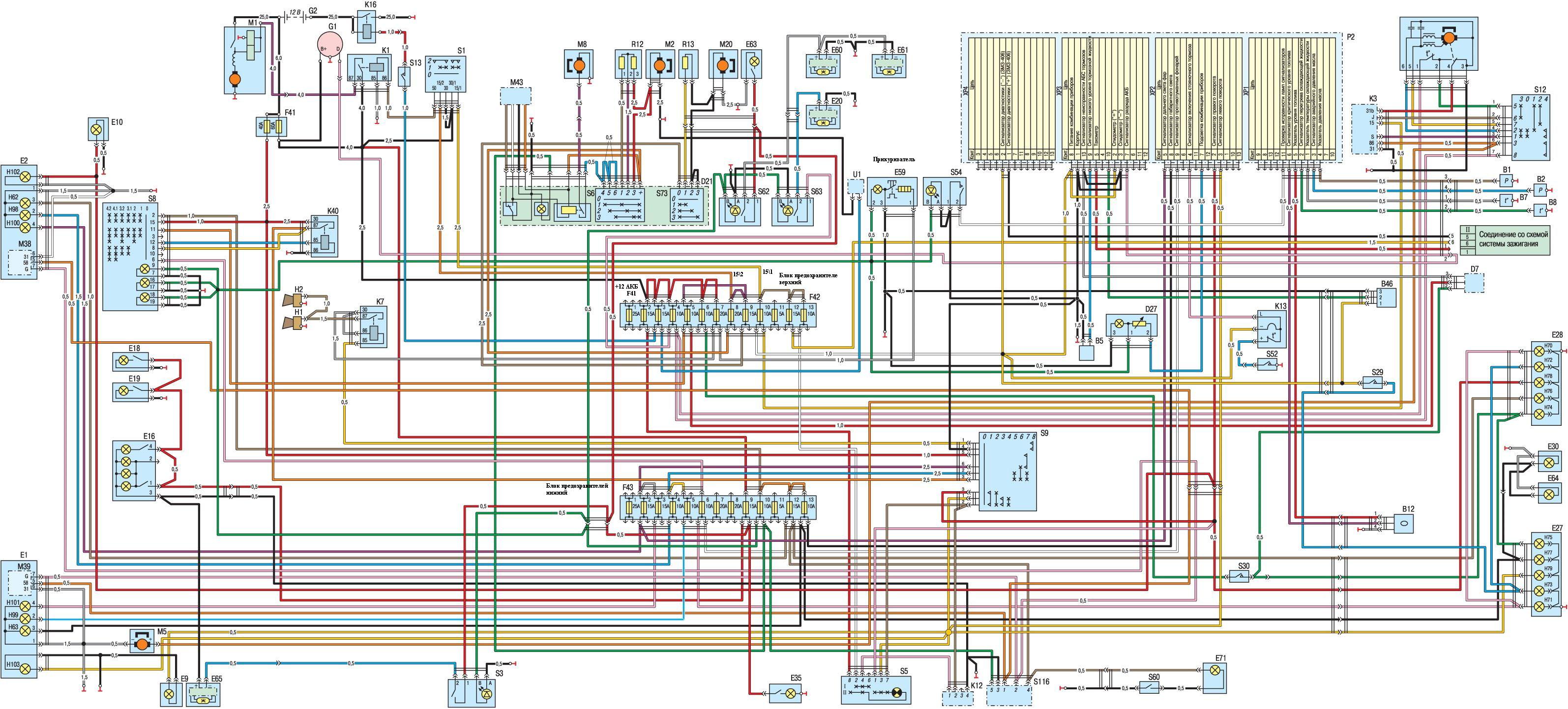 Схема устройства переднего моста - Где кончается 71