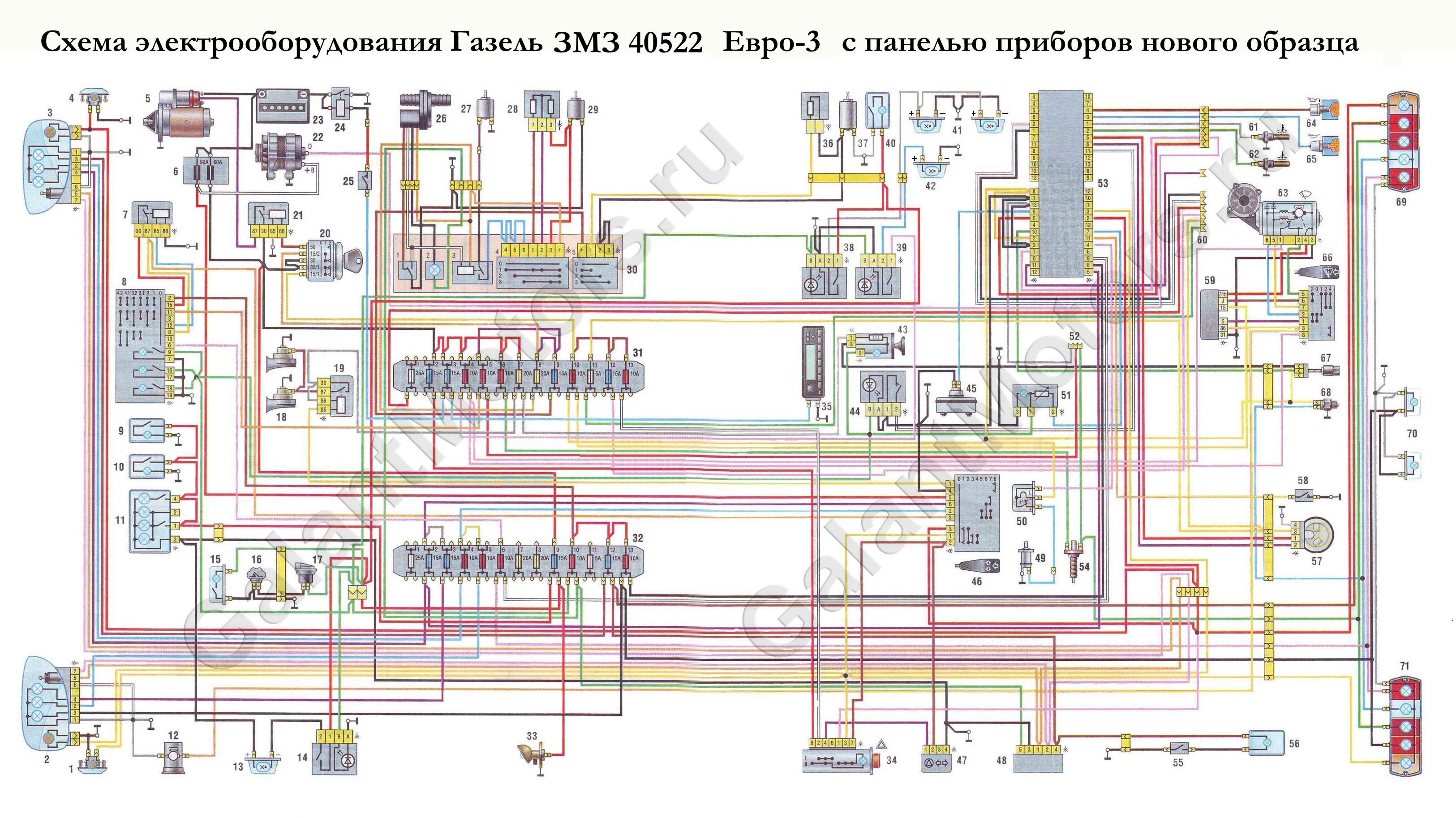 Схема электропроводки газ 3302 406 карбюратор6