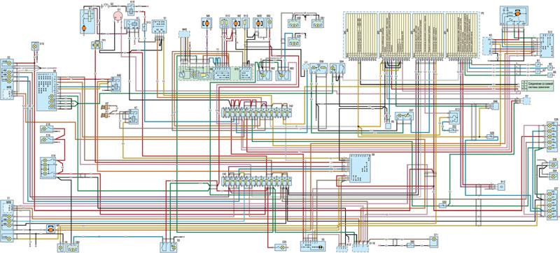 Общая схема электрооборудования Газель ЗМЗ 405 инжектор