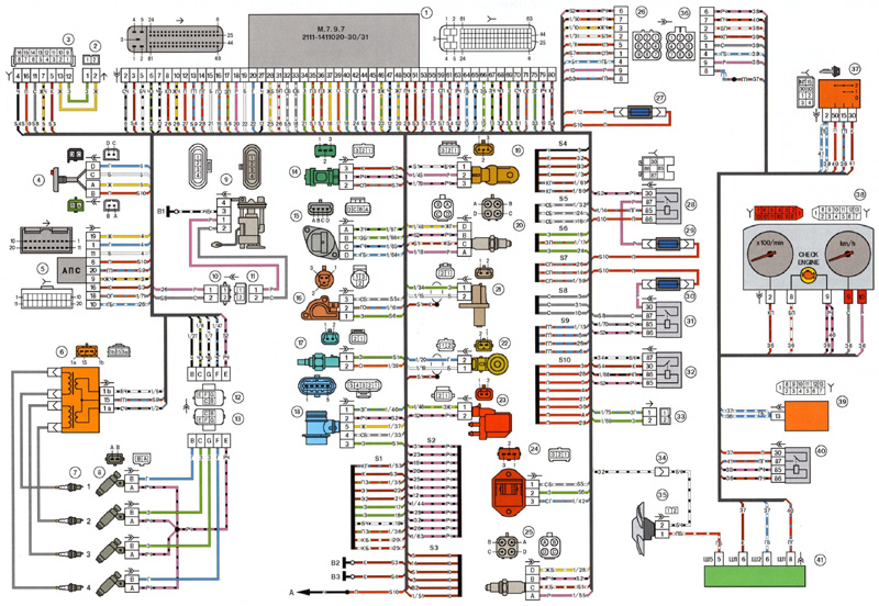 2114 M797 M73 E3 2111 2113 small - Схема подключения датчика детонации ваз 2114